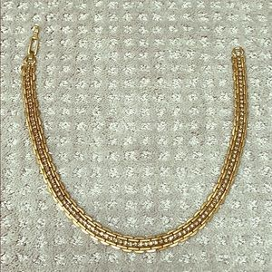 Stella & Dot gold and rhinestone necklace